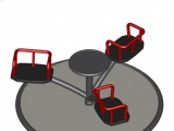 Crossed Arms Roundabout w. Platform - 3 Seats