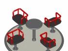 Funfair Carrousel - 4 Seats