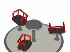 Karuzela 3 siedzenia na na słupkach